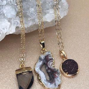 Jewelry - Gemstone + Druzy Necklaces